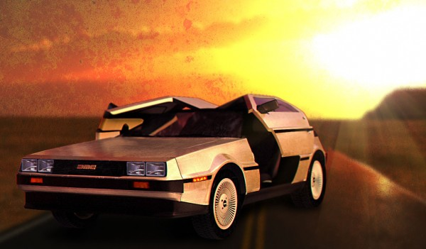 delorean-araba